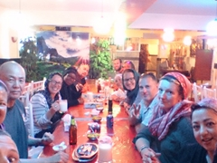 Group dinner at a kebab house in Tabriz
