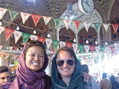 Becky and Helen in the Tehran Bazaar