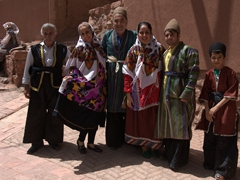 Traditionally dressed locals posing for us in Abyaneh