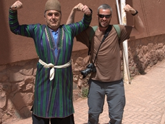 Robby and his new friend hamming it up for the camera; Abyaneh