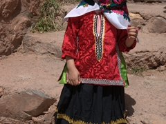 Happy girl posing for the camera; Abyaneh