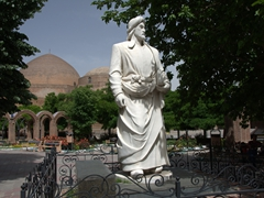Poet Khaqani's Statue near the Blue Mosque; Tabriz