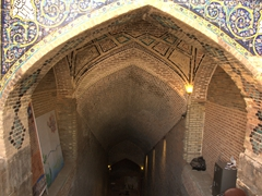Entrance portal to Sardar Cistern; Qazvin