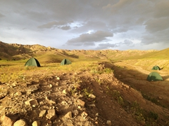 Our first bush camp in Iran