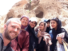 Treated like rock stars by the locals; Kandovan