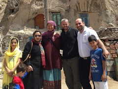 Countless locals eager to take photos with us; Kandovan