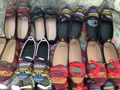 Colorful shoes for sale; Kandovan