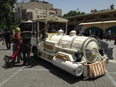 Tourist train near Imam Khomeini Square; Tehran