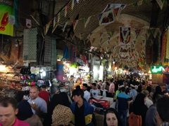 Joining the masses at the Tehran Bazaar