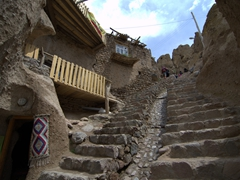 Steep steps in Kandovan