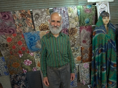 A local guy begs us to take his photo; Tabriz Bazaar