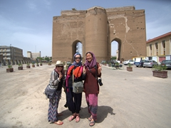 Dya, Gill and Becky at Arg-e Ali-Shāh, the remnants of a 19th century military castle in Tabriz