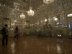 Anthony and Helen inside the obscene Hall of Mirrors; Golestan Palace