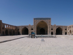 Panoramic courtyard view of Hakim Mosque