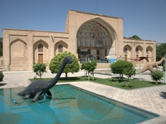 Esfahan's Natural History Museum, complete with fiberglass dinosaurs!