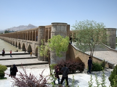 Si-o-Seh Bridge (33 Arches), a 300 meter long bridge spannning the Zayandeh River