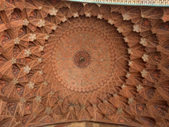 Dome of Qeysarieh Portal, one of many entrances to Esfahan's Bazar-e Bozorg (Great Bazaar)