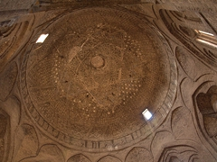 Taj al-Molk Dome, considered the finest brick dome ever built. It has survived numerous earthquakes over an 900 year period and has never been damaged; Jameh Mosque