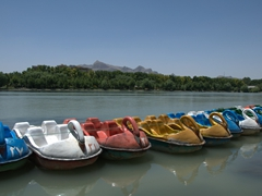 Paddleboats for hire; Zayandeh River