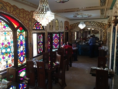 Another view of our fancy breakfast room; Sunrise Hotel in Esfahan