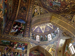 Another view of the richly decorated interior of Vank Cathedral