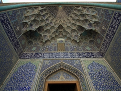 Tilework on the Imam Mosque, reputedly one of the most beautiful mosques in the world; Esfahan