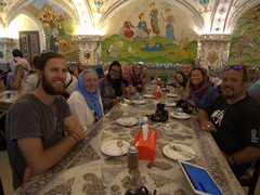 Group lunch at Bastani Traditional Restaurant; Esfahan