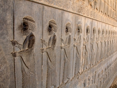 Relief of the Immortals (an elite royal guard within the Achaemenid Persian army)