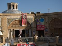 Exterior view of Serai Mushir caravanserai; Vakil Bazaar