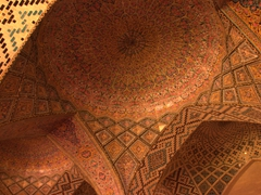 Intricate ceiling of Nasir-ol-Molk Mosque; Shiraz