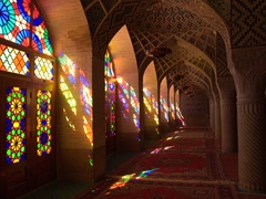 Gorgeous early morning view of Nasir-ol-Molk Mosque, quite possibly Iran's most photographed mosque