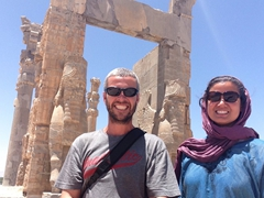 After spending several amazing hours exploring Persepolis, we finally exited via the Gate of All Nations
