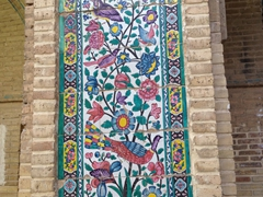 Bird tile decor of Madraseh-ye Khan; Shiraz