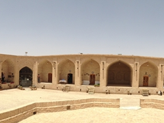Panoramic view of Meybod's caravanserai