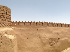Another view of Meybod's mud built walls
