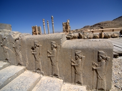 Royal guards on a staircase at Persepolis