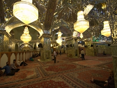 The dazzling mirrored interior of Shah-e-Cheragh Shrine; Shiraz