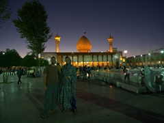 Night shot at Shah-e-Cheragh Shrine