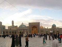 Panoramic view of Jomhoori Islami (Islamic Republic) Courtyard; Imam Reza's Holy Shrine in Mashhad