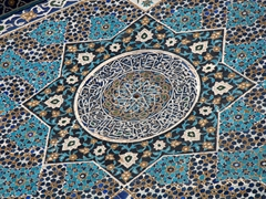 Exquisite tile work on Jameh Mosque; Yazd