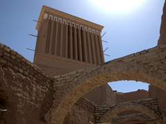 Badgir in old Yazd
