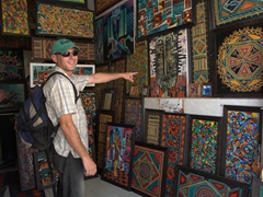 Anthony is keen to purchase some local artwork in Yazd