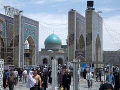One of several entrances to Imam Reza Holy Shrine; Mashhad