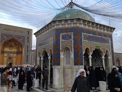 Water fountain; Islamic Republic Courtyard at the Imam Reza Shrine in Mashhad