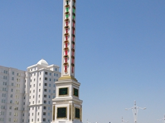 Ashgabat's giant thermometer, one of the world's tallest