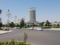 Ashgabat has the highest density of white marble buildings in the world
