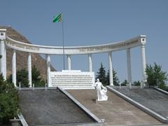 Türkmenbashy monument at Saglyk Ýoly Park