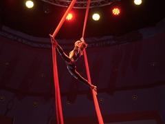 Aerial silk acrobatics; Turkmen State Circus