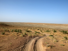 Route to Darvaza Gas Crater