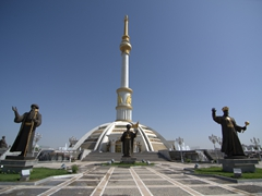 Independence Monument, built to commemorate Turkmenistan's independence on 27 October 1991